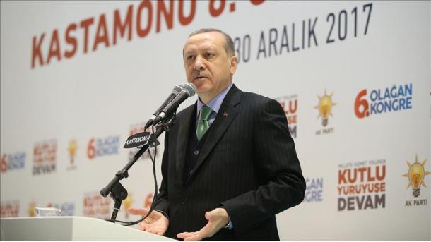 Erdogan volta citar Jerusalém em seu discurso