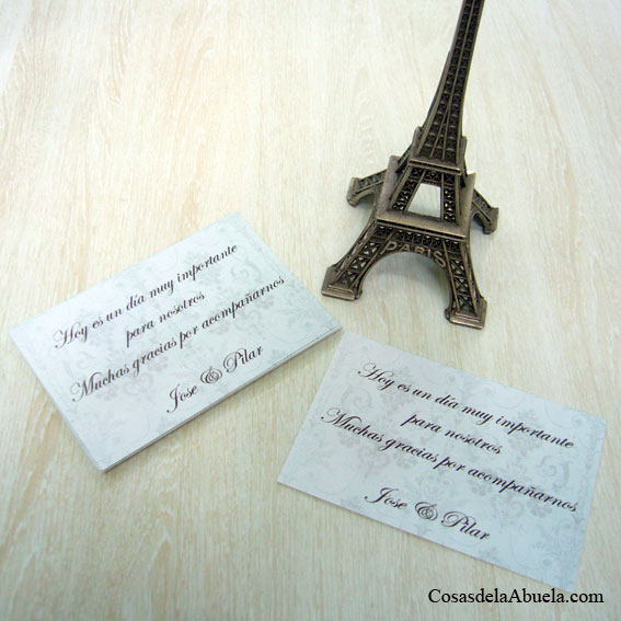Tarjetas de agradecimiento vintage elegantes