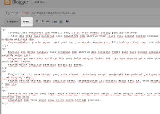 Cara Mudah Memindahkan Tulisan Dari Word ke Blog agar rapi