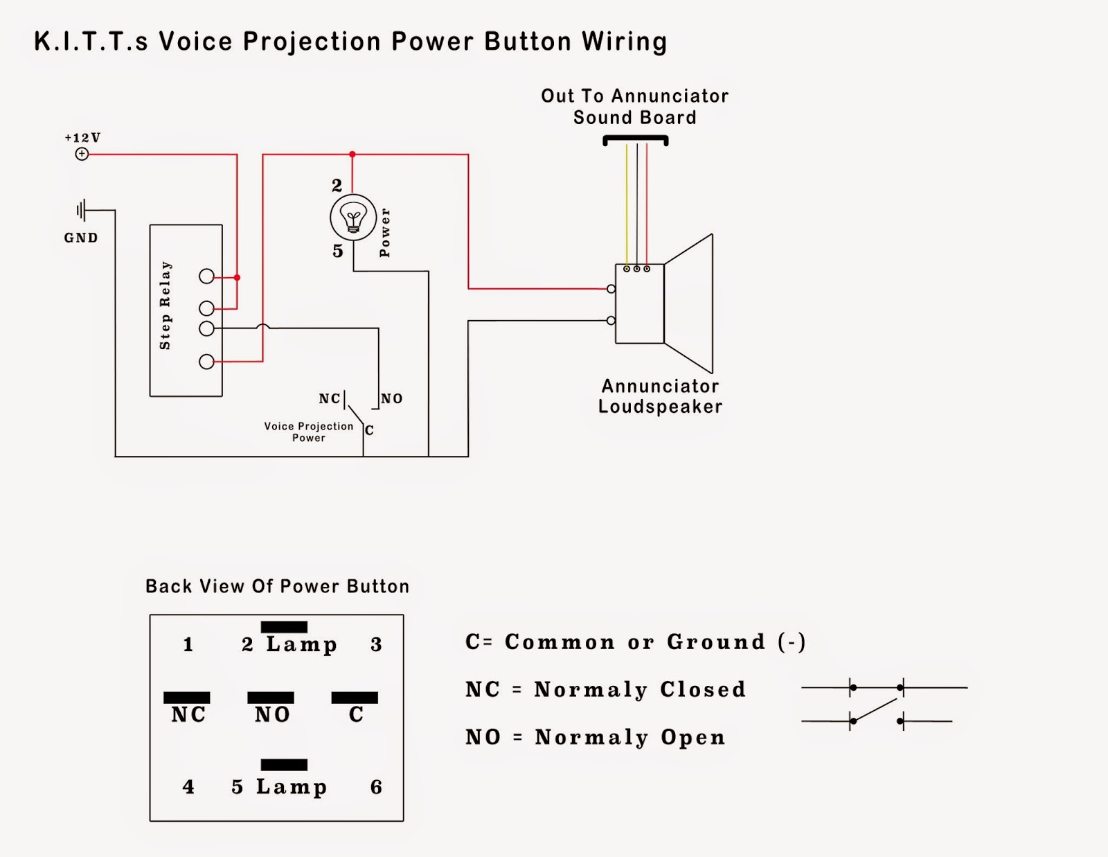 small resolution of voice projection unit power button wiring scheme