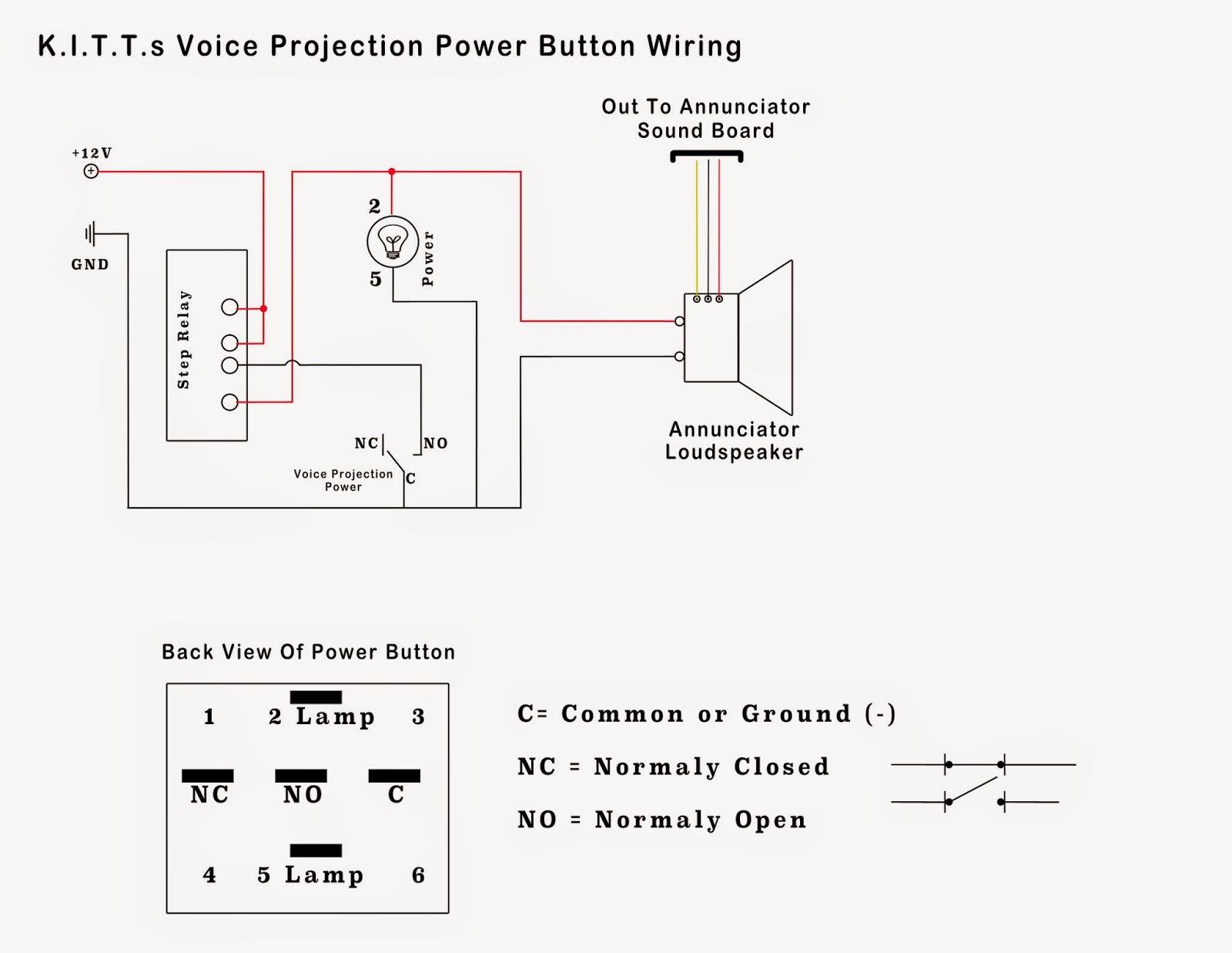 voice projection unit power button wiring scheme [ 1600 x 1237 Pixel ]
