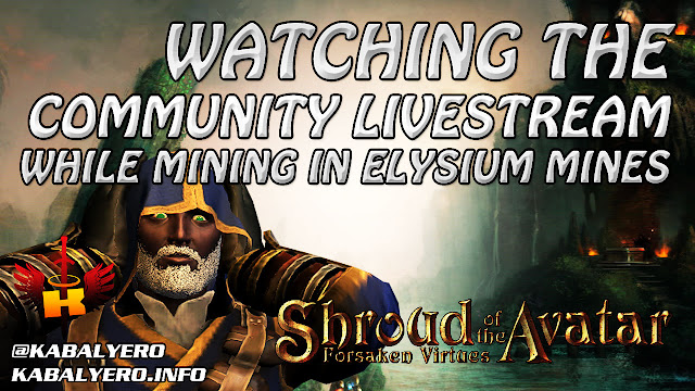 Watching The Community Livestream While Mining In Elysium Mines