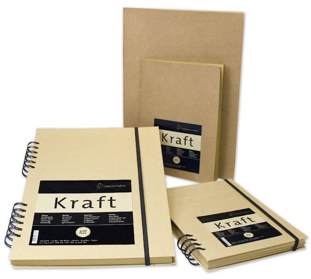 Alice Hendon, product review of the Hahnemühle Kraft Sketchbook, 80 sheets