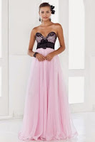glamous evening dress in pink