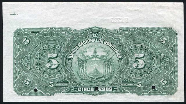 5 pesos Banco Nacional Honduras