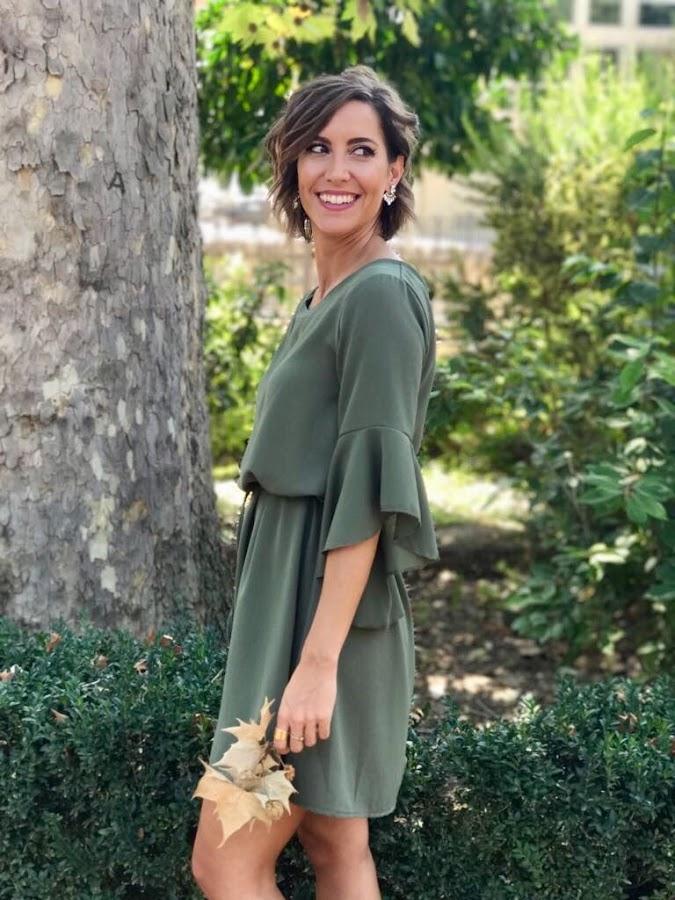 Fitness And Chicness-Vestido Verde Oliva Otoño-1