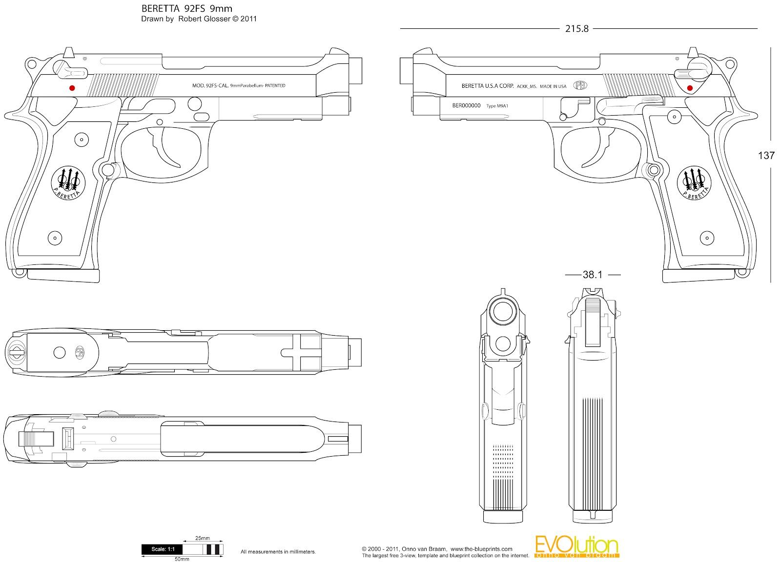 Carmenaty 3d Artis Beretta 92fs 9mm