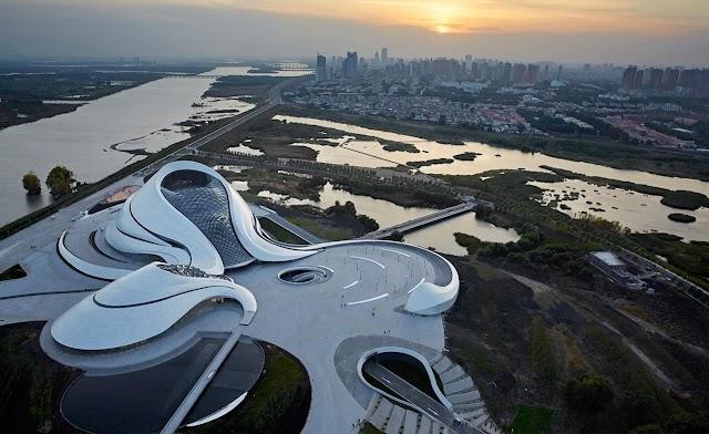 Harbin Opera House's sweeping curves