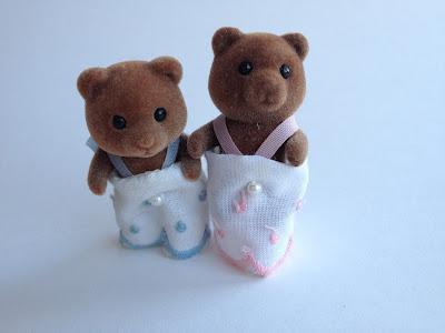 Sylvanian Families Vintage Timbertop Bear Babies
