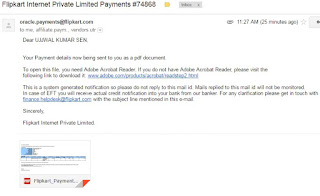 Flipkart Affiliate, Payment Proof
