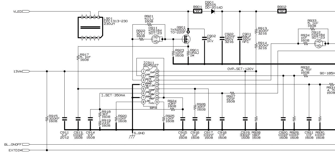 hight resolution of led driver section