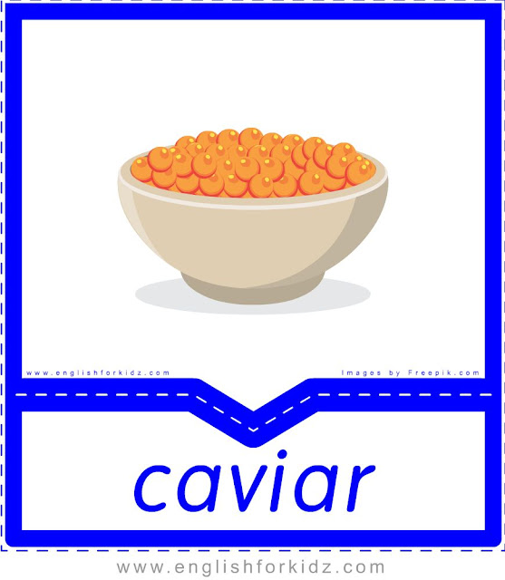 Caviar - English food flashcards for ESL students