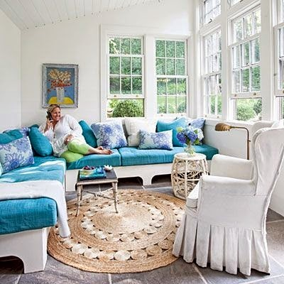 round jute rug sunroom