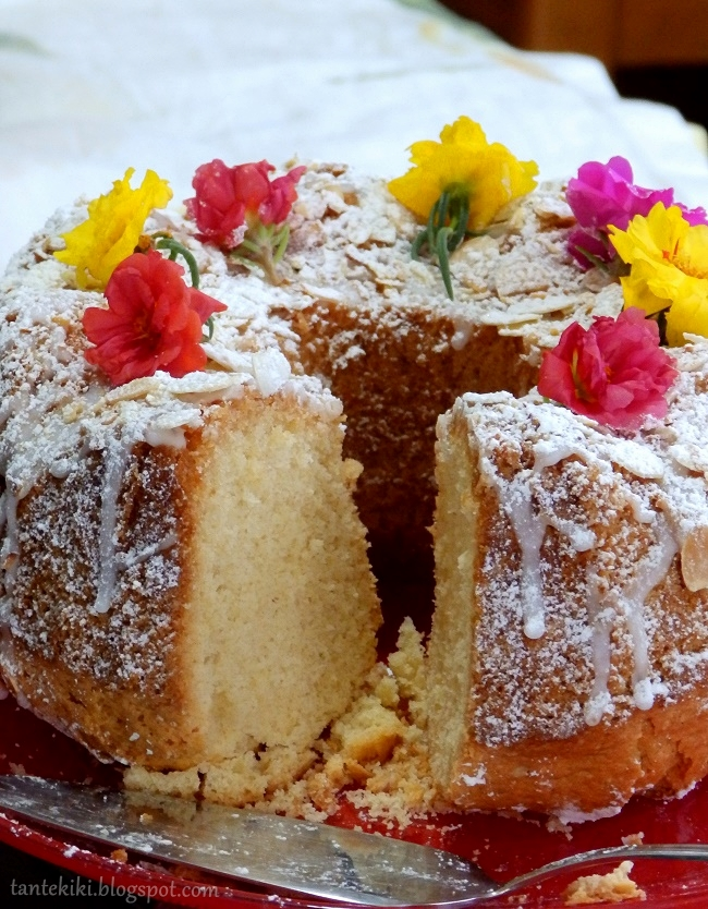 Κέικ αμυγδάλου με άμυλο πατάτας, χωρίς γλουτένη