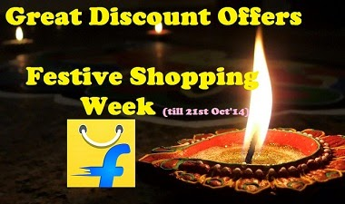 Flipkart's Festive Shopping Week: Great Discount on Mobile, Laptos, House Hold Products, Electronics, Fashion Wears & much more