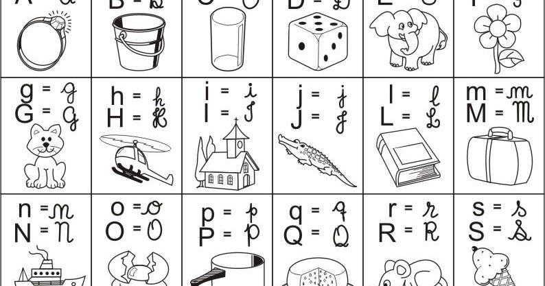 Noticias Ponto Com Alfabeto Ilustrado 4 Tipos De Letras Colorir