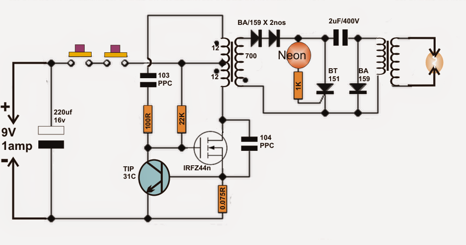 water heater alarm circuit electronic circuit projects