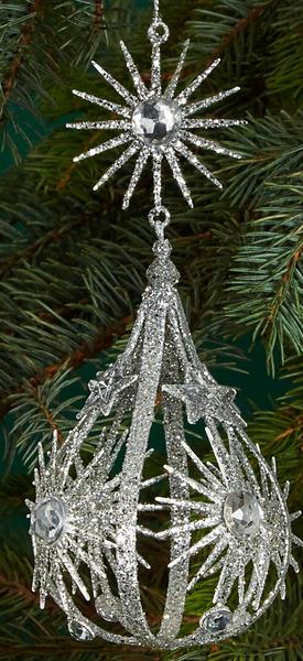 Bloomingdale's Studded Open Teardrop Ornament