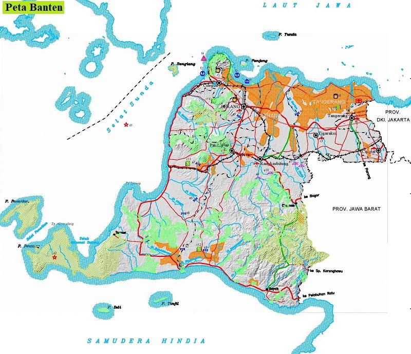 Peta Banten HD Lengkap