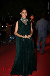 Actress Pragya Jaiswal Stills in Green Long Dress at Gemini TV Puraskaralu 2016 Event  0100.JPG