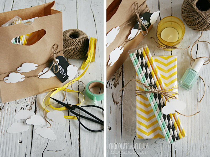 cloud garland gift bag diy