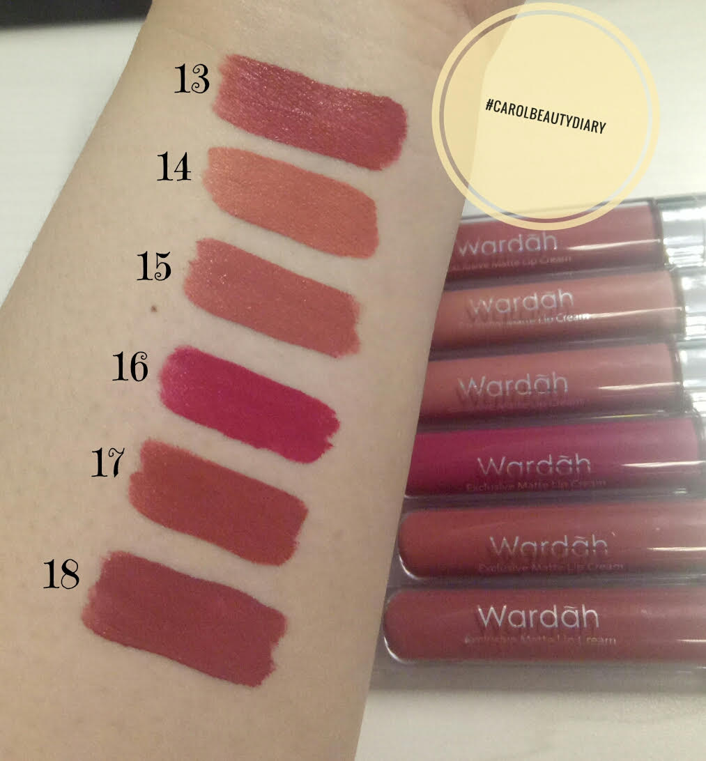 Review Lip Cream Wardah No 16 17 18 The Art Of Beauty Lipstick Exclusive Matte Carol Diary 13 14