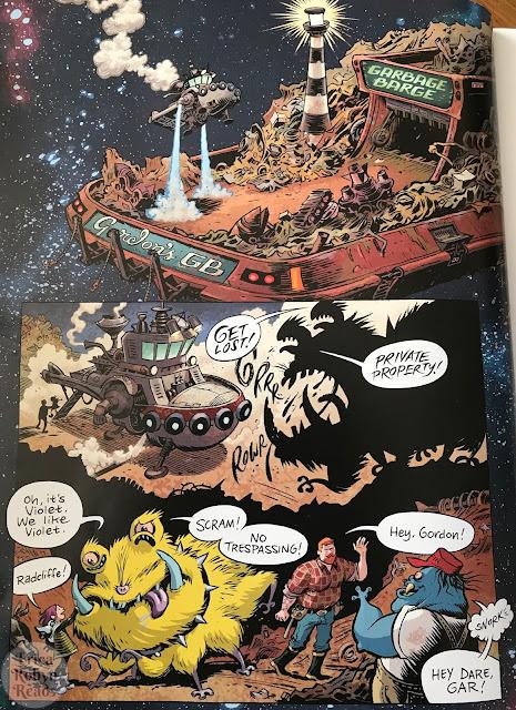 Space Dumplins by Craig Thompson, garbage barge