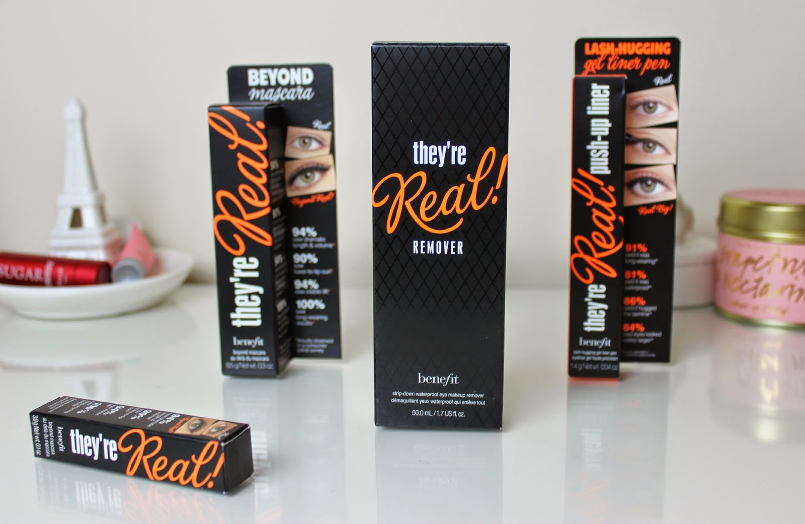 A picture of Benefit They're Real! Mascara, They're Real! Push-Up Liner and They're Real! Remover