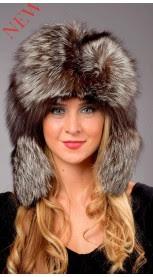 Authentic Silver fox fur hat
