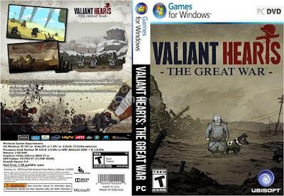 Jogo Valiant Hearts The Great War PC DVD Capa