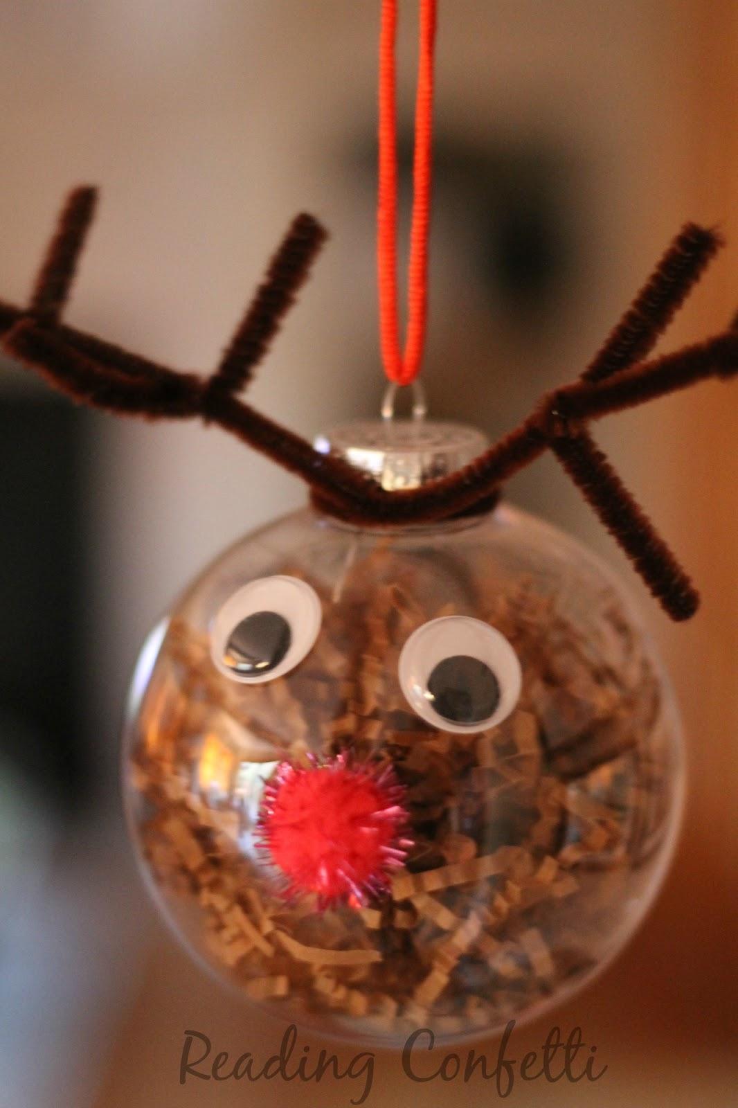 Reindeer Ornament ~ Reading Confetti