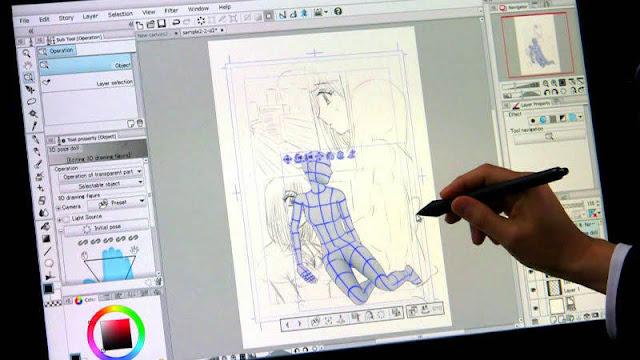utilisez des pantins 3d dans clip studio paint