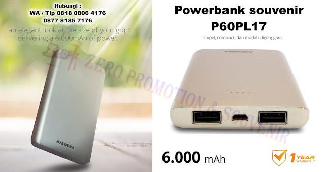 Jual Powerbank souvenir kantor 6.000mAh P60PL17