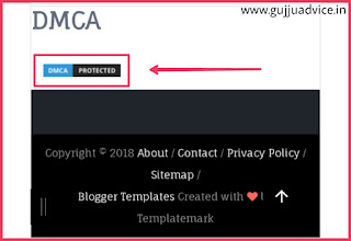 Demo of DMCA badge