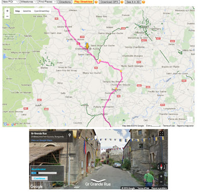 Ride the Route in Streetview