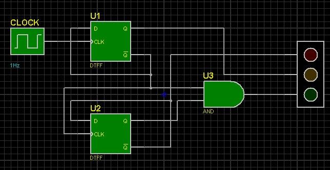 Membuat Rangkaian Lampu Merah Rangkaian Digital Sederhana