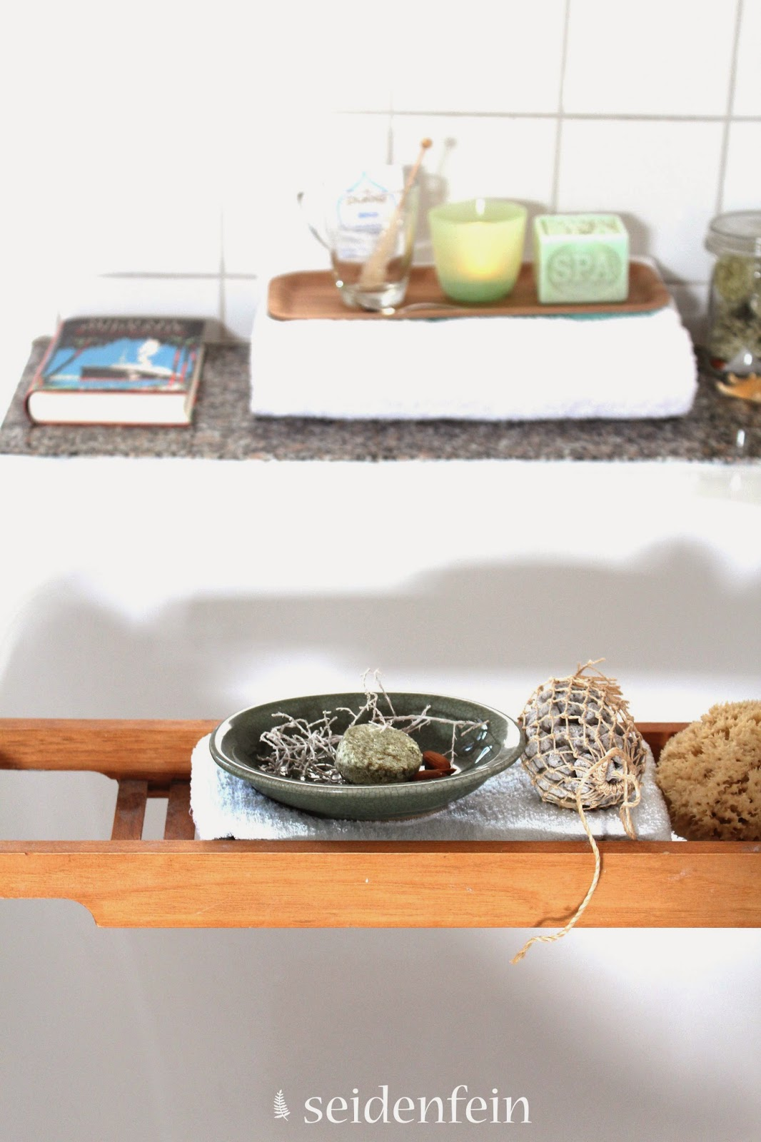 seidenfeins blog vom sch nen landleben gr ntee badetabletten f r den detox day diy. Black Bedroom Furniture Sets. Home Design Ideas