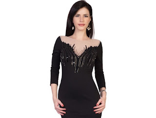 Cleavage is a low-cut neckline up to the area between breasts, usually refers to what is visible from garment