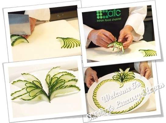 martin yan cutting skills cucumber flowers