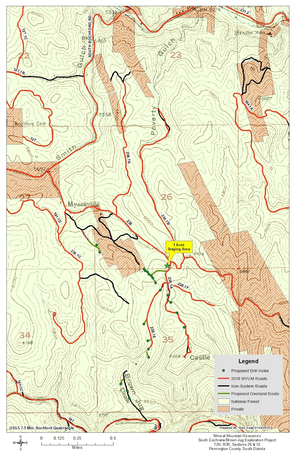 mining claims on federal land in the area as mapped by clean water alliance is below