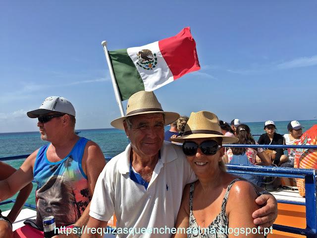 Viagem no Ferry Boat para Cozumel