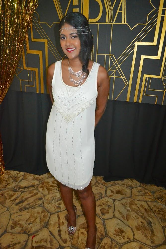 White Beaded Dress Great Gatsby