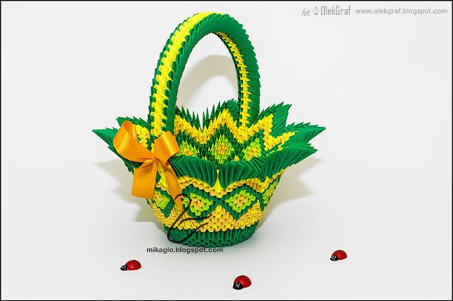 531. Koszyk z origami / 3d origami basket