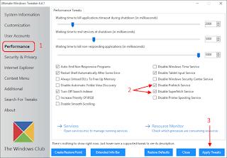 Ultimate Windows Tweaker - Prefetch e Superfetch