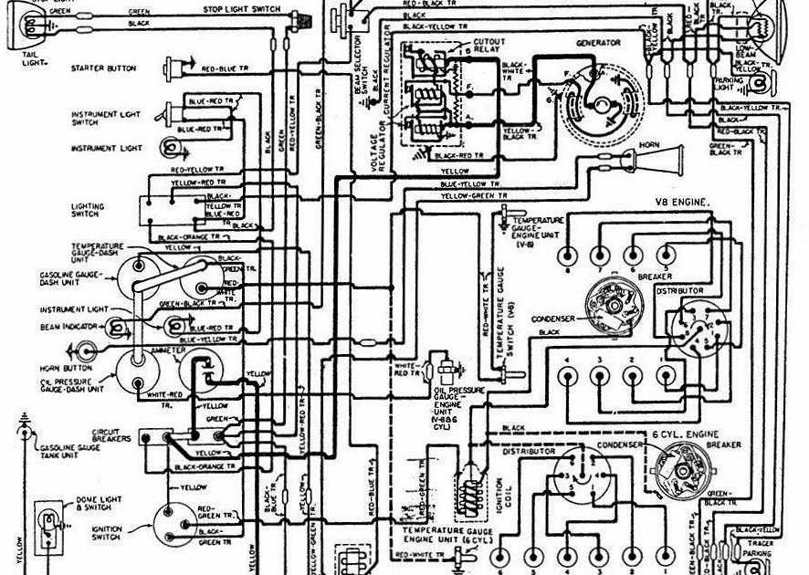 4 wire regulator diagram 6 wire regulator diagram generator wiring diagram for 1948 1949 ford trucks all about