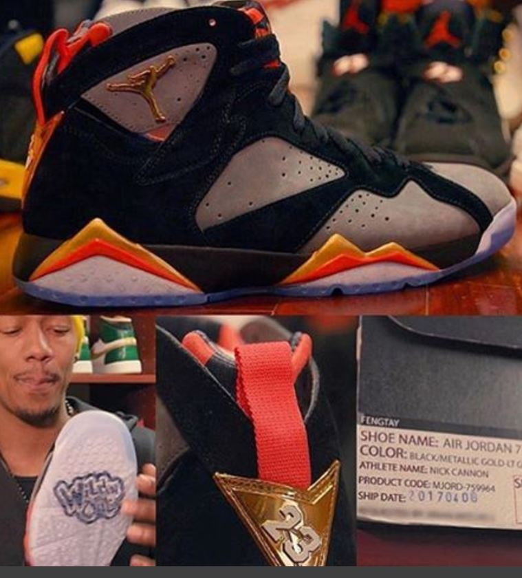 quality design 46b12 70bf6 THE SNEAKER ADDICT: Nick Cannon x Air Jordan 7 'WildN Out ...