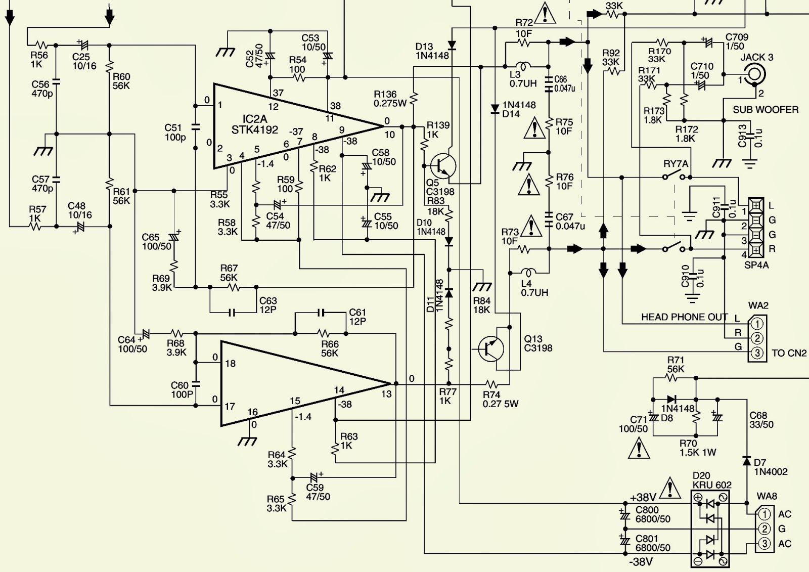 Jbl Jsr 400 Power Amp Schematic Stk 4192 Electro Help 38v Wiring Diagram Click On The To Zoom In