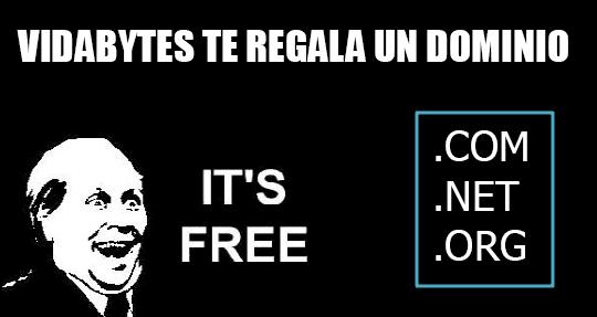 Sorteo dominio gratis vidabytes.com