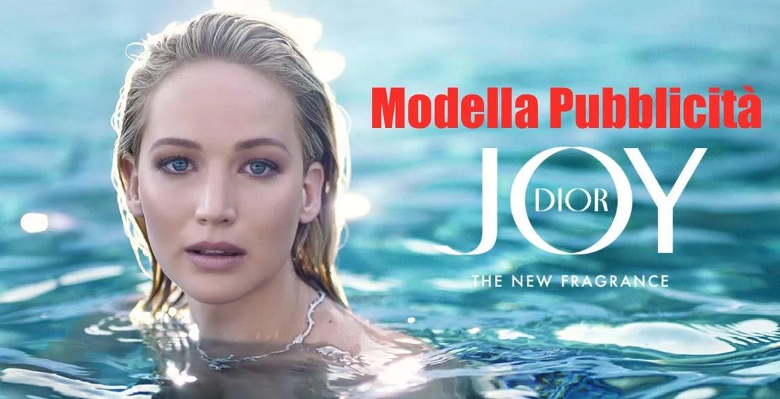 modella pubblicità dior joy, profumo femminile