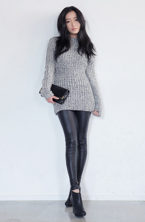 Stylenanda Matte Leather Leggings Kstylick Latest